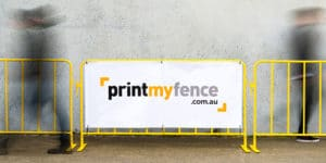 Printed Crowd Control Barriers Sign